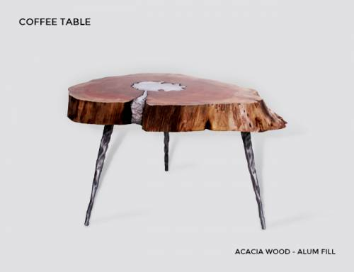 Buy Molten Wood Coffee Table Online at Aglow Exports Inc.