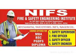 University certificate fire safety courses in nagercoil